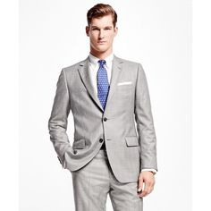 Brooks Brothers Fitzgerald Fit Plaid with Deco 1818 Suit ($599) ❤ liked on Polyvore featuring men's fashion, men's clothing, men's suits, brooks brothers mens clothing, brooks brothers mens suits and mens plaid suit