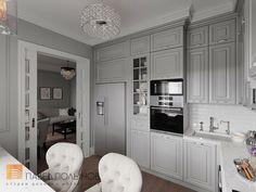 Фото дизайн кухни из проекта «Интерьер двухкомнатной квартиры в стиле американской классики, 68 кв.м.»