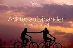 """""""Lasst uns aufeinander achten! Wir wollen uns zu gegenseitiger Liebe ermutigen und einander anspornen, Gutes zu tun."""" Hebräer 10:24  #hebräer #hebraer #hebräer10 #hebraer10 #gott #jesus #heiligergeist #achtsam #achtsamkeit #liebe #gutes #glaube #glaubensimpulse #bibel #bibelvers"""