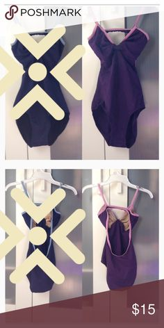 Purple leotard with pink trim Great condition! Blue one has sold but purple still available! Let me know if you have any questions. Bundles are now 2 for 20% off or 3+ for 30% off! Have a great day/night! Other