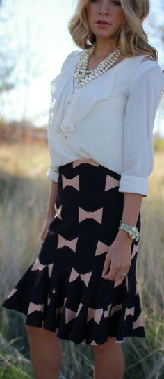 Wearing #Bows by Bird a la mode