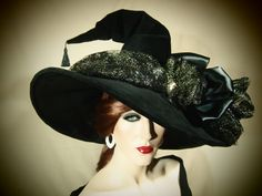 Couture Witch Hat Celduin by EvercrumblyAndWitch on Etsy