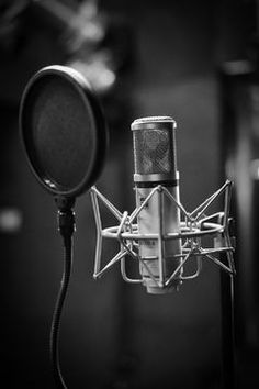 grayscale photo of condenser microphone beside pop filter Recording the vocals Voice Singer, Voice Actor, Micro Chant, Images Esthétiques, Music Studio Room, Montage Photo, Music Aesthetic, Aesthetic Videos, Aesthetic Vintage