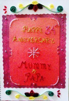Anniversary scrapbook picture album page