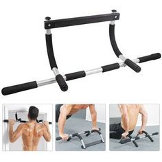 Heavy Duty Doorway Chin Pull Up Bar Exercise Sports Gym Home Door Mounted Total Upper Body Workout Bar Chin Up Bar Walmart Com In 2021 Bar Workout Pull Up Bar Door