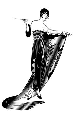 Erté Is Perhaps Most Famous For His Elegant Fashion Designs Which Capture The Art Deco Period