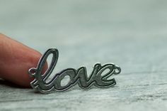 Love Sign Connector Jewelry Making Jewelry by BeadsForYourJewelry, $4.50