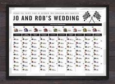 Formula 1 themed table plan