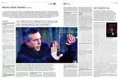 Entrevista a Miguel Ángel Toledo en 'Diario de Avisos'. 25 de mayo de 2014.