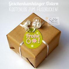Geschenkanhänger für Ostern, kostenlos zum Ausdrucken!