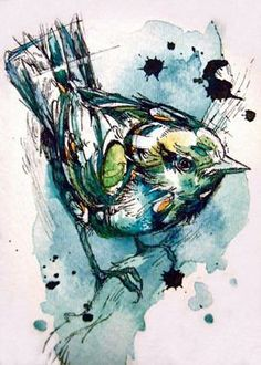 Water colour bird