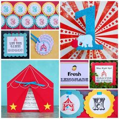 CIRCUS/ CARNIVAL  Custom Signs from Mary by maryhadalittleparty, $2.50