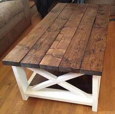 Merveilleux Стол деревянный лофт White Rustic Coffee Table, Farmhouse Style Coffee Table,  Farmhouse Tv Stand
