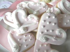 Blush Pink Heart Cookies