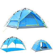 4 Season 4 Person C&ing Tent 2-layer Instant Pop Up Tent Windproof Outdoor  sc 1 st  Pinterest & Details about NEW 5-8 Person Layer Waterproof Family Party Camping ...