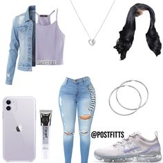 Baddie Outfits For School, Boujee Outfits, Baddie Outfits Casual, Swag Outfits For Girls, Teenage Girl Outfits, Cute Swag Outfits, Cute Comfy Outfits, Teenager Outfits, Teen Fashion Outfits