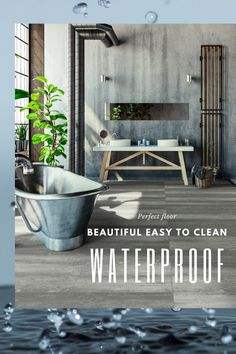 Waterproof flooring is perfect for busy lives. It's easy to care for and looks fantastic. Great for kitchens, baths, or even the whole house! Spills wipe right up. Come check out the newest styles. Waterproof Flooring, Be Perfect, Baths, Kitchens, Cleaning, Trends, Check, Easy, House