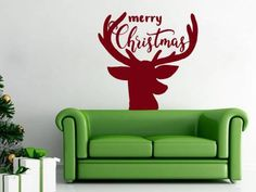 Deer Wall Decals Sticker Merry Christmas Vinyl Decoration Decal Nursery Kids Room Bedroom Living Home Decor Dear Buyers, Welcome to our shop VinylDecals2U!  ★ SIZE AND COLOR ★ Approximate Item Sizes:  16 Tall x 16 Wide 22 Tall x 22 Wide 28 Tall x 28 Wide 38 Tall x 38 Wide   If this size is inappropriate for you, you can contact us and provide your dimensions and we can create for you decal of any size. ✓✓✓Please note that any changes of the decal dimensions will result in the price…