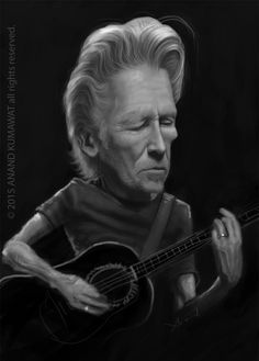 Roger Waters - Pink Floyd - Caricature on Behance