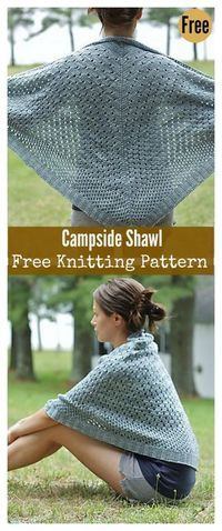 This Campside Shawl Free Knitting Pattern is a simple and easy shawl to make and is a perfect wear for any time of the year. Make one now with the free pattern provided by the link below. Free Knit Shawl Patterns, Crochet Patterns, Free Pattern, Scarf Patterns, Designer Knitting Patterns, Stitch Patterns, Lace Patterns, Knit Or Crochet, Lace Knitting