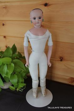 """Antique French Bisque French Fashion Reproduction 21"""" Doll by Lynda Alan Marx 