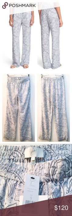 55% OFF! Joie Paisley Print Silk Pants Reasonable offers welcome. Same or next day shipping. Brand new with tags! Retails at $268. Softly swirling pastel paisleys add an ultraluxe feel to these silk pants with a classic straight-leg silhouette from Joie.  Pull-on style. Front slant pockets. Lined. 100% silk. Dry clean. By Joie; imported. Individualist. Joie Pants