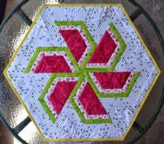 Watermelon pinwheel table topper
