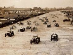 Car Race At Brooklands – 1928
