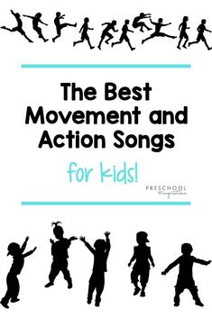 Use these movement and action preschool songs during circle time, transition time, as a brain break, or anytime throughout the day! A great list of action-oriented music for kids that is sure to get everyone up and grooving. Movement Preschool, Body Preschool, Preschool Music, Movement Activities, Music Activities, Teaching Music, Motor Activities, Physical Activities, Music Teachers