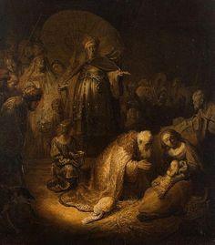 ImpressioniArtistiche / Famous Nativity Paintings: Rembrandt: Adorazione dei magi