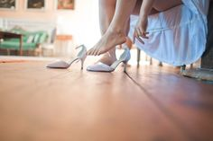 Wearing the shoes. Ballet Shoes, Wedding Day, Dance, Bride, How To Wear, Pi Day Wedding, Dancing, Wedding Bride, Bridal
