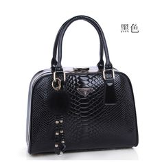 2013 vintage crocodile pattern fashion ladies handbag women's handbag leather bag
