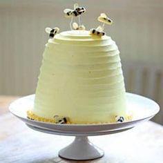 Well the bees are tiny?  Bee hive cake.  precious.