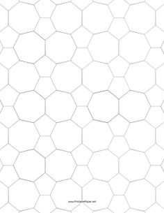 This small tessellation includes irregular pentagons and heptagons. Free to download and print