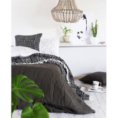 Shop domino for the top brands in home decor and be inspired by celebrity homes and famous interior designers. domino is your guide to living with style. Big Bedrooms, Small Room Bedroom, Blue Bedroom, Master Bedroom, Bedroom Decor, Bedroom Ideas, Bed Room, H & M Home, Luxury Bedding Collections