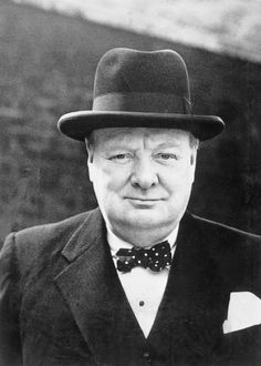 Portrait of Winston Churchill taken in London, 2 Aug 1944. (Imperial War Museum)