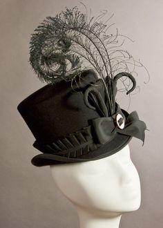 55eaa048 Wellington hat by House of Nines Design Wedding Top Hat, Steampunk Wedding,  Steampunk Hat