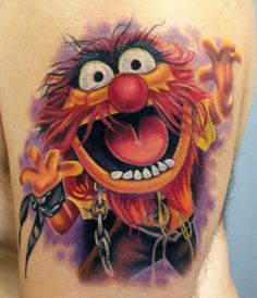 Animal from the Muppets. Tattoo by Mindy Stewart at Olde Tyme Tattoo in Titusville FL. Facebook.com/TattoosbyMindyStewart Instagram:MindyXIII