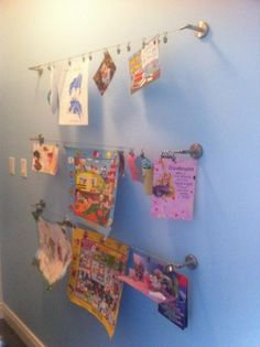 Great way to display your childrens artwork!