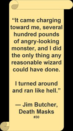 ♥ Jim Butcher ♥ ~ #Quote #Author #Funny