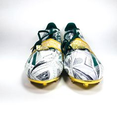 pretty nice c9506 c9d37 Adidas Adizero 5.0 Snoop Dogg Money Football Cleats Green Gold D70177 Mens  Sz 14 (