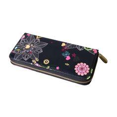 NA-0152 Xiamen volk unique  flower zipper handmade long  wallet