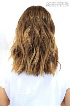 Hair Color by JOHNNY RAMIREZ •   IG: @johnnyramirez1 • Ramirez|Tran Salon • 310.724.8167 • info@ramireztran.com // #ramireztran #johnnyramirez #ramireztransalon #boxno216 #beautifulhair #wavyhair #beforeandafter #highlights #goldenhair #beverlyhills #hairinspiration #warmbrunette #beachhair #colorcorrection