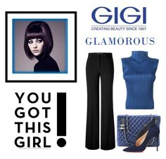 """You Got This Girl !"" by conch-lady ❤ liked on Polyvore featuring Issey Miyake, Versace, Chanel and Christian Louboutin"