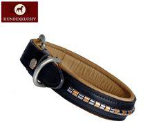Hochwertiges Hundehalsband   Ein hochwertiges Hundehalsband aus der Sattlerei, individuell im Look und aus feinsten Materialien in liebevoller Handarbeit gefertigt.
