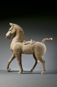 A Painted Pottery Sichuan Horse with Removable Saddle