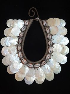 Shining Thin Shell Necklace Adornment Tribal Fashion Papua New Guinea Home Decor