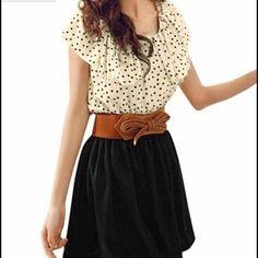 Polka Dot Sexy Dress With Belt.