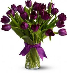 How do I get my husband to surprise me with a bouquet of gorgeous purple tulips?  Or any flowers, for that matter?  : )