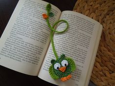 Check out our bookmarks selection for the very best in unique or custom, handmade pieces from our shops. Crochet Owls, Crochet Diy, Crochet Quilt, Crochet Gifts, Crochet Flowers, Crochet Stitches, Crochet Bookmark Pattern, Crochet Bookmarks, Crochet Patterns